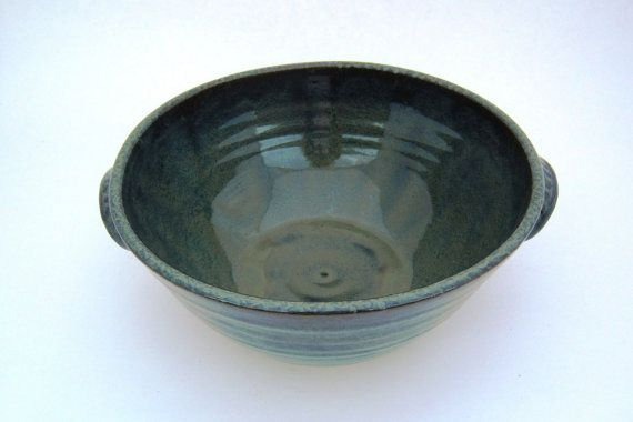 Blue Green Serving Bowl by laurawilson2 on Etsy, $40.00