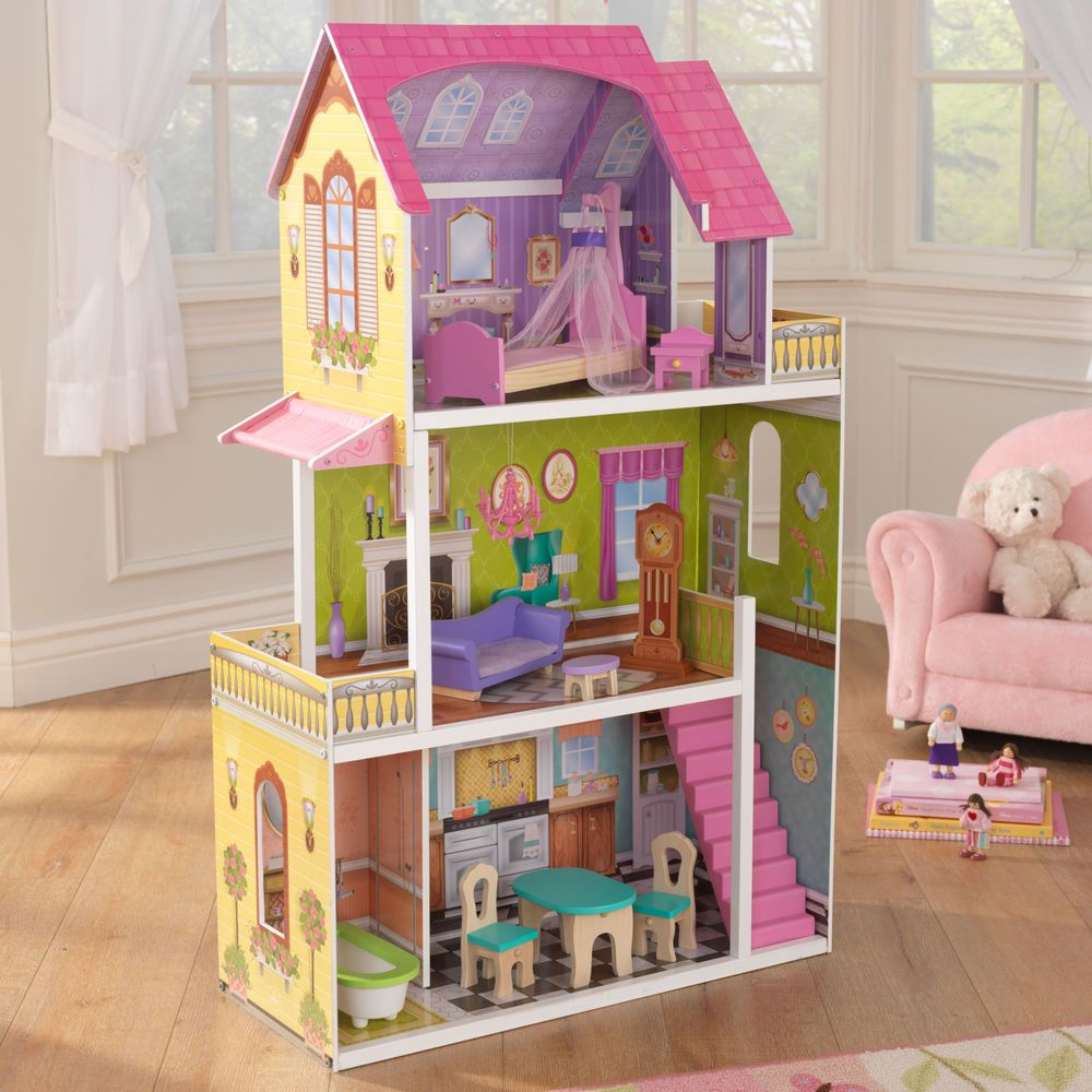 Whimsical KidKraft Dollhouse 10 Of Furniture Play Set Great First Doll House  NEW #KidKraft