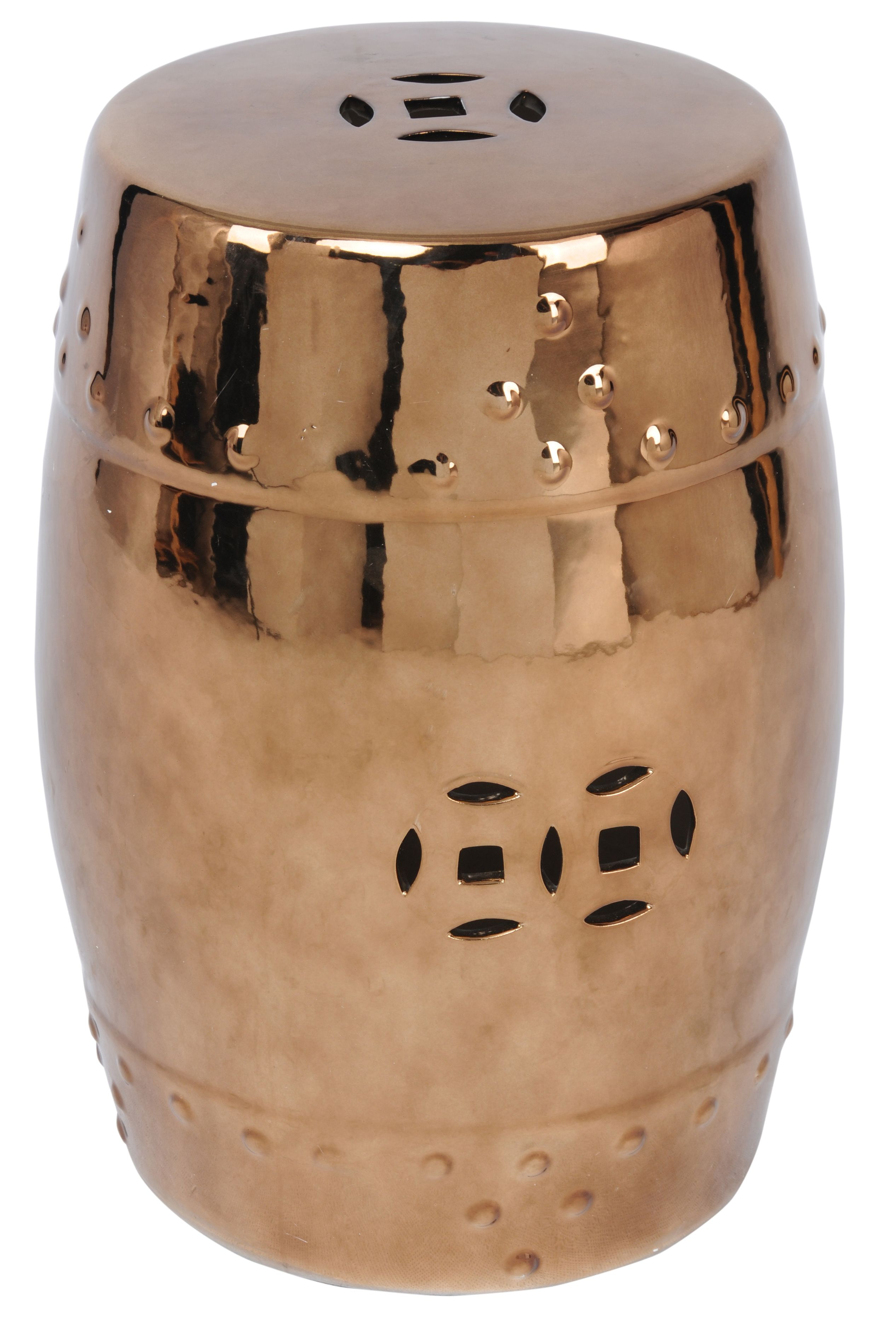 Orient Ceramic Garden Stool in Gold - NPD | Home Accessories - New ...