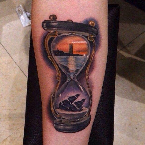 da7cc55ec3 15 Philosophical Hourglass Tattoos
