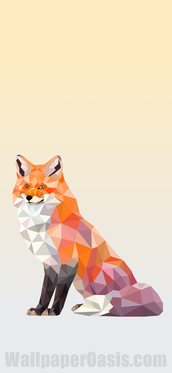 Free Geometric Red Fox Iphone Wallpaper This Design Is Available For Iphone 5 Through Iphone X Get This Fox Background Iphone Wallpaper Wallpaper Iphone Cute