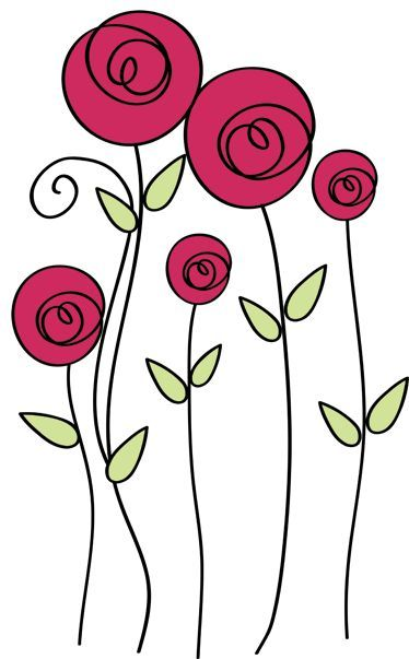 flores dibujos a color png  Buscar con Google  decorar con