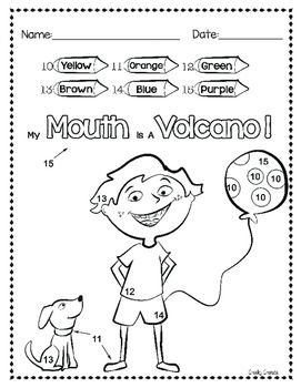My Mouth Is A Volcano Activities Volcano Activities
