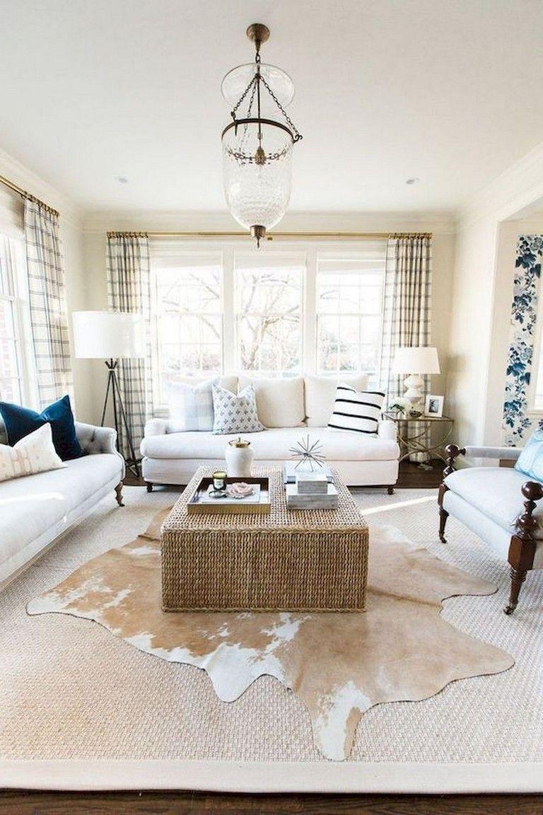 45+ Comfy Modern Farmhouse Living Room Curtains Ideas | Home ...