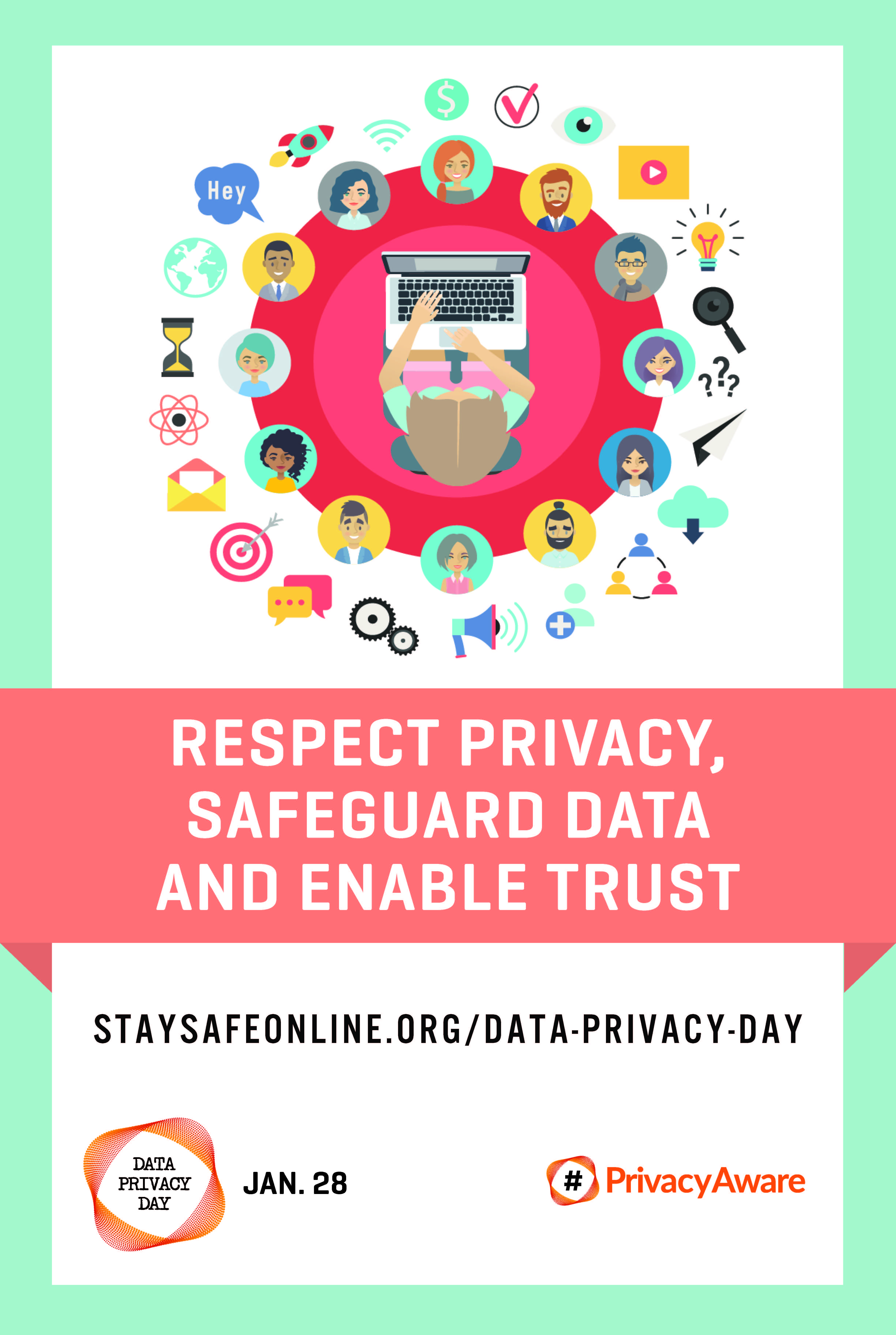 Data Privacy Day 2018 poster January 28 PrivacyAware