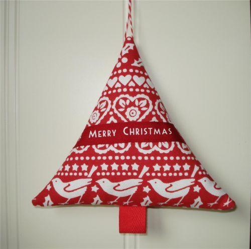 Christmas Tree Decoration EMMA BRIDGEWAER RED JOY fabric Laura Ashley gingham | eBay