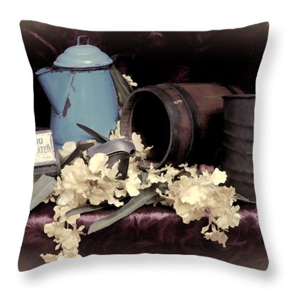 Throw Pillows - Soft Country Kitchen Throw Pillow by Pamela Walton