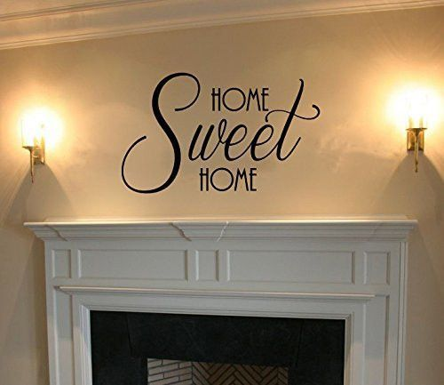 Home Sweet Home Vinyl Wall Words Decal Sticker Graphic Measures - Vinyl wall decals application instructions