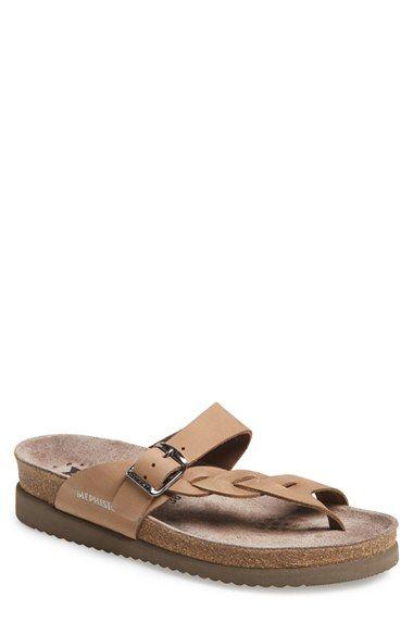 49492e3006 Mephisto 'Helen Twist' Nubuck Leather Sandal (Women) available at #Nordstrom