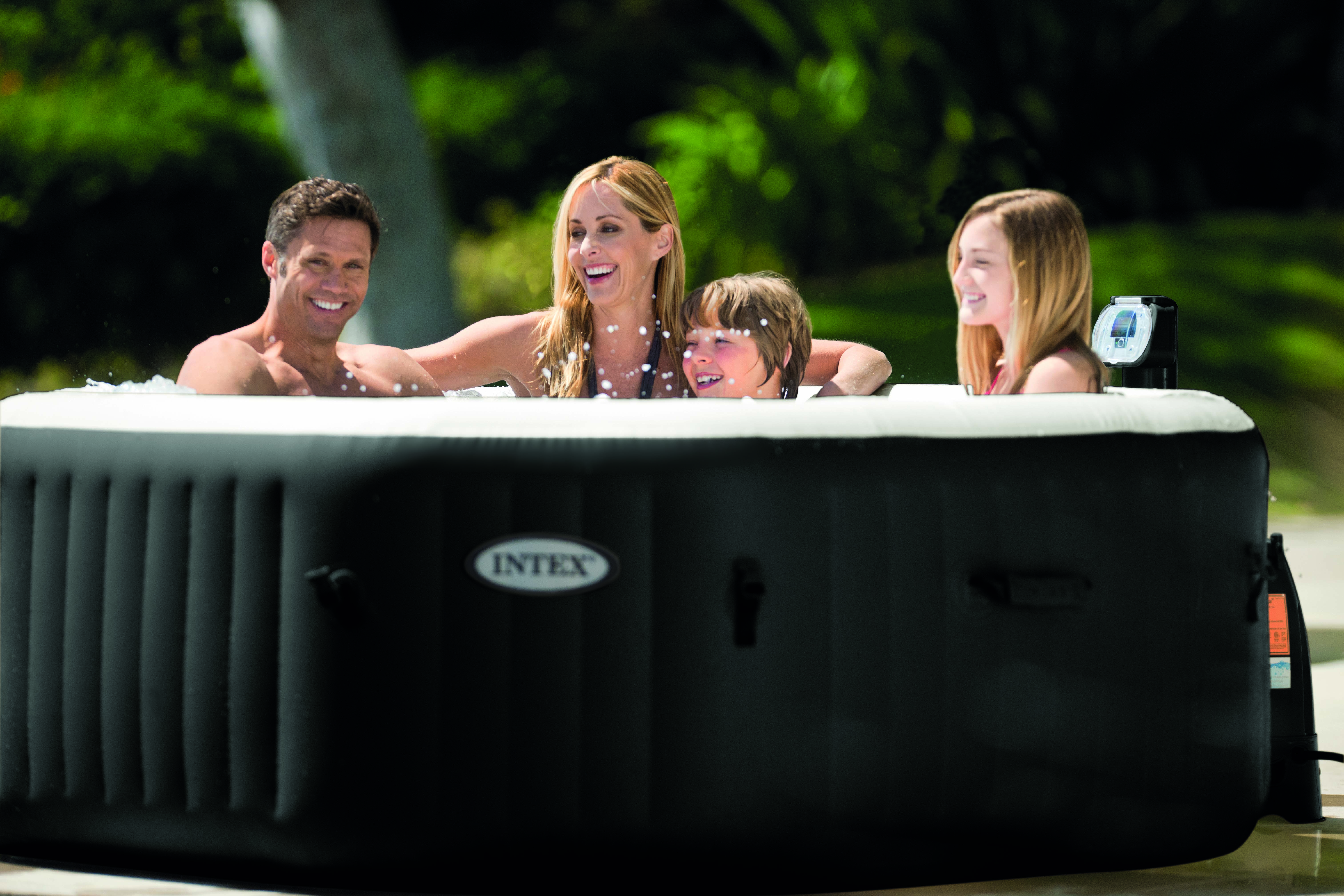 Pour un moment de détente en famille !!! Le spa PureSpa Intex octogonal à  bulles et jets pour accueillir jusqu à 4 personnes !  spa  gonflable  intex   jet ... 9678cbb41e20