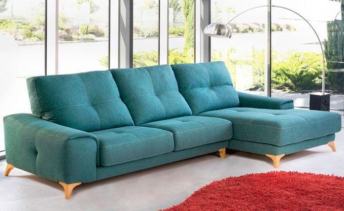 Sofá con chaise longue modelo pradera fabricado por tapizados priego