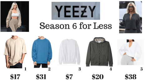 Yeezy Clothing Alternatives: The