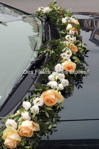 decoration voiture mariage guirlance de fleurs bouquets. Black Bedroom Furniture Sets. Home Design Ideas