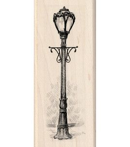 Inkadinkado Mounted Rubber Stamp Park Lamp Post Lamp Tattoo Post Lights Lamp Post