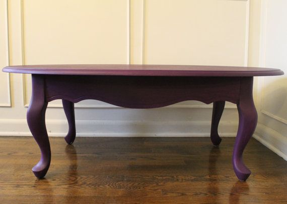 Shabby Chic Purple Queen Anne Coffee Table Coffee Table Solid