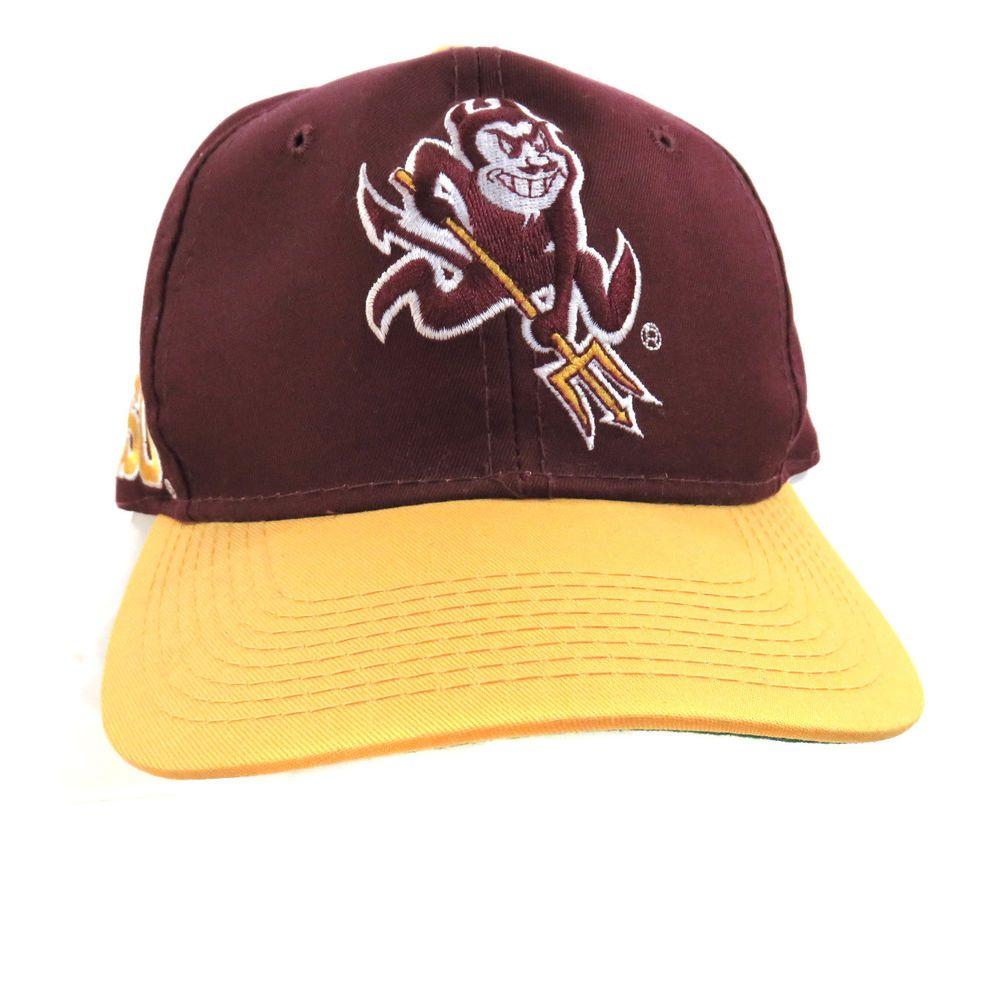 6824e9da5 Vintage Arizona State Sun Devils Hat ASU Front Logo Back Spell Out ...