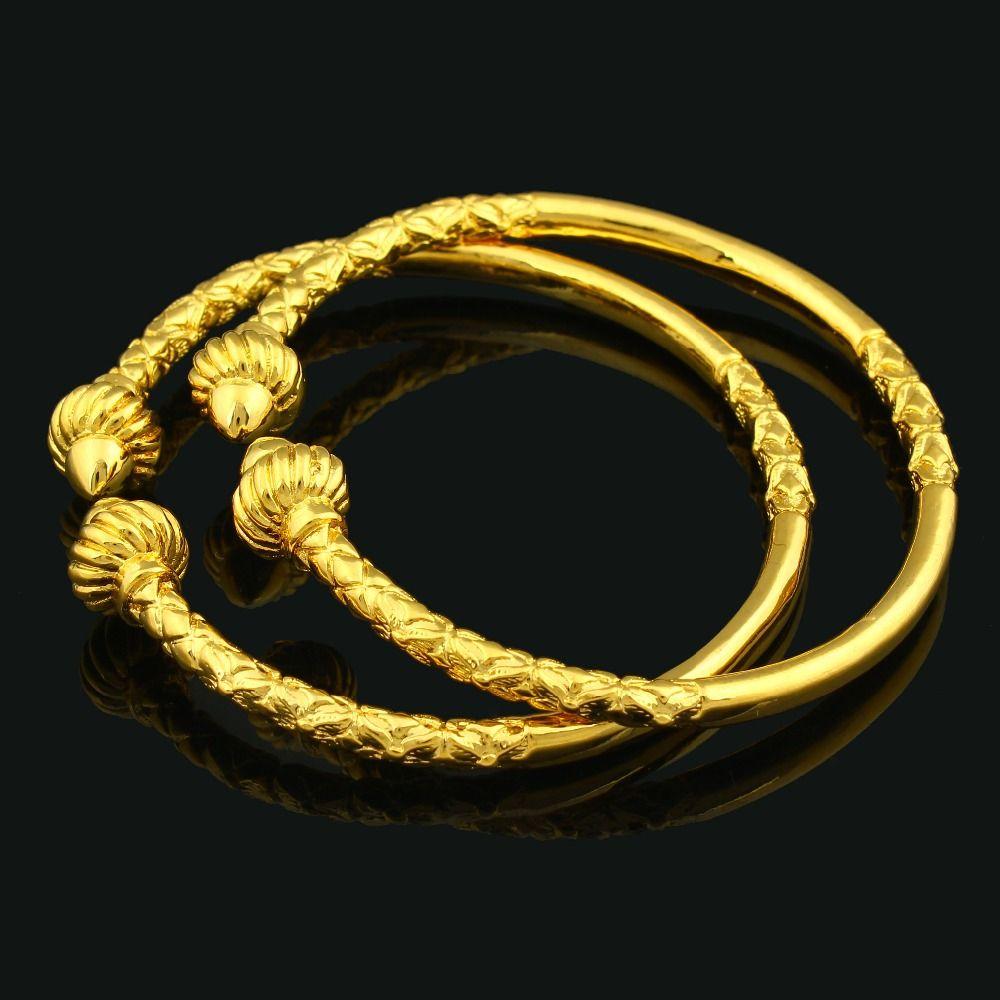 new ethiopiaus african fashion unisex gold bangle gold color