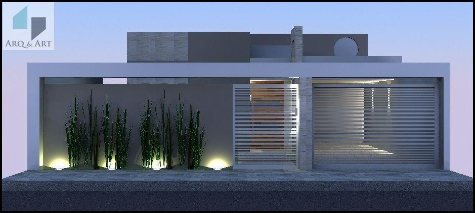 Casa de un solo piso, presentamos una fachada que combina Madera y - fachada madera