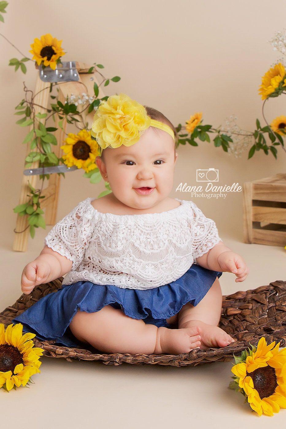Baby Girl Photoshoot Ideas : photoshoot, ideas, Sunflower, Photoshoot, Toddler, Photoshoot,, Photography,