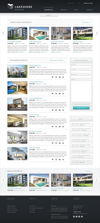 Lakeshore Realtor Group By Marc Antoine Roy Via Behance Web Design Inspiration Web Design Website Design