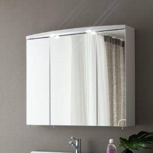 Triple Door Mirrored Bathroom Cabinet