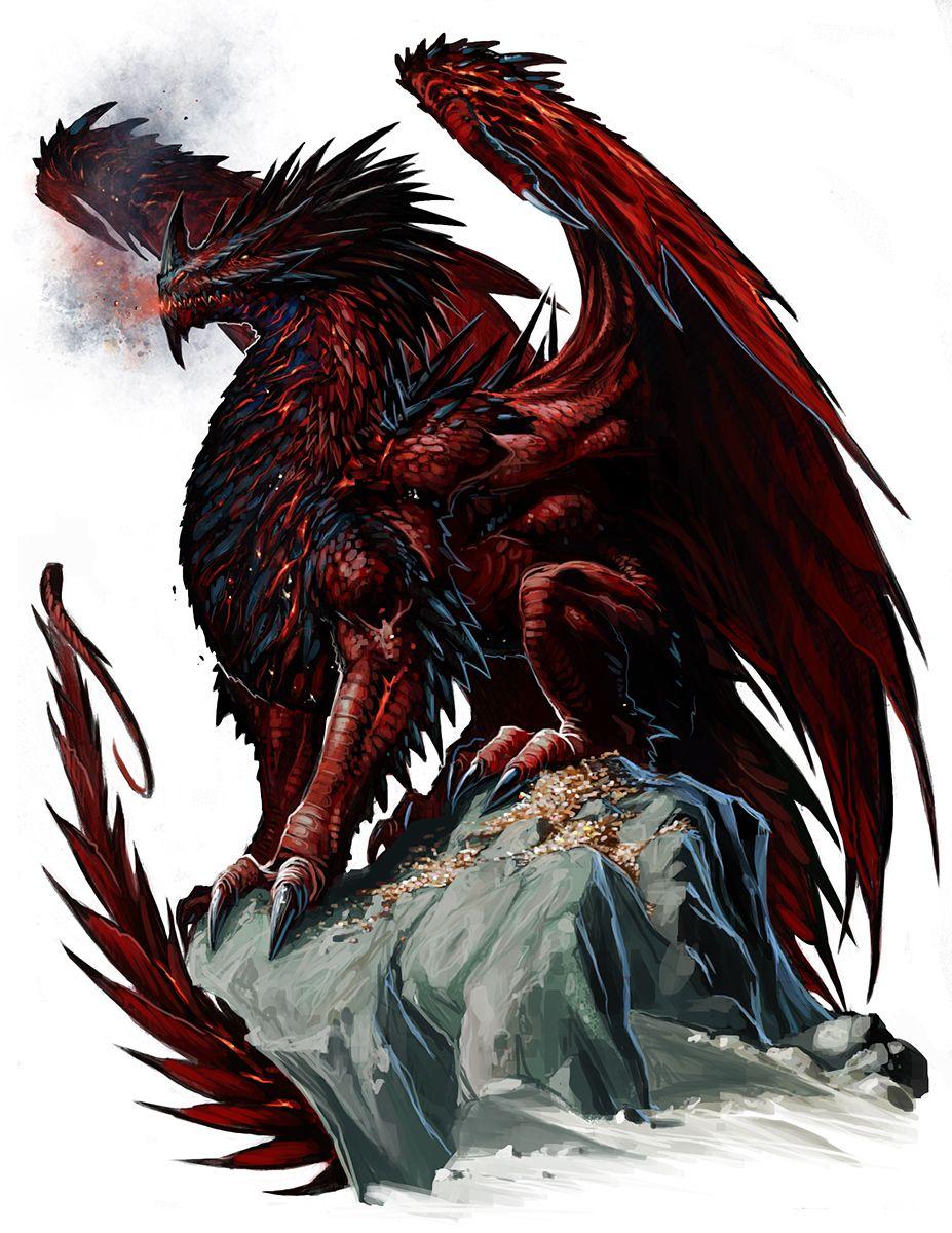 ancient red dragon by benwootten deviantart   on