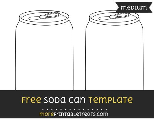 free soda can template medium shapes and templates printables