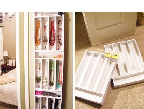 Wall mount cutlery drawers for jewellery storage