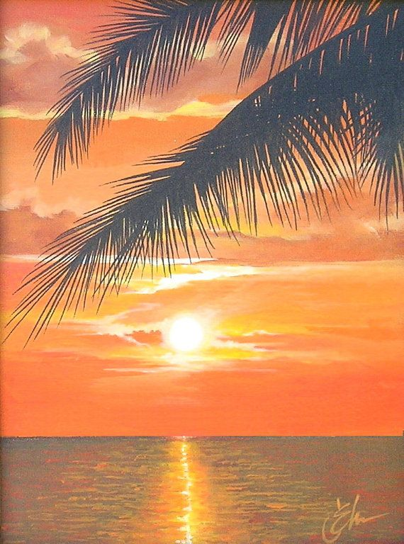 Easy Beach Paintings For Beginners Google Search Sunset