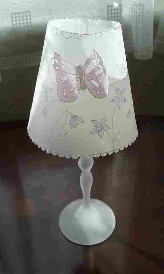Lampshade for wine glass, personalised, parchment craft, handmade