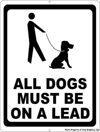 All Dogs Must be on a Lead Sign