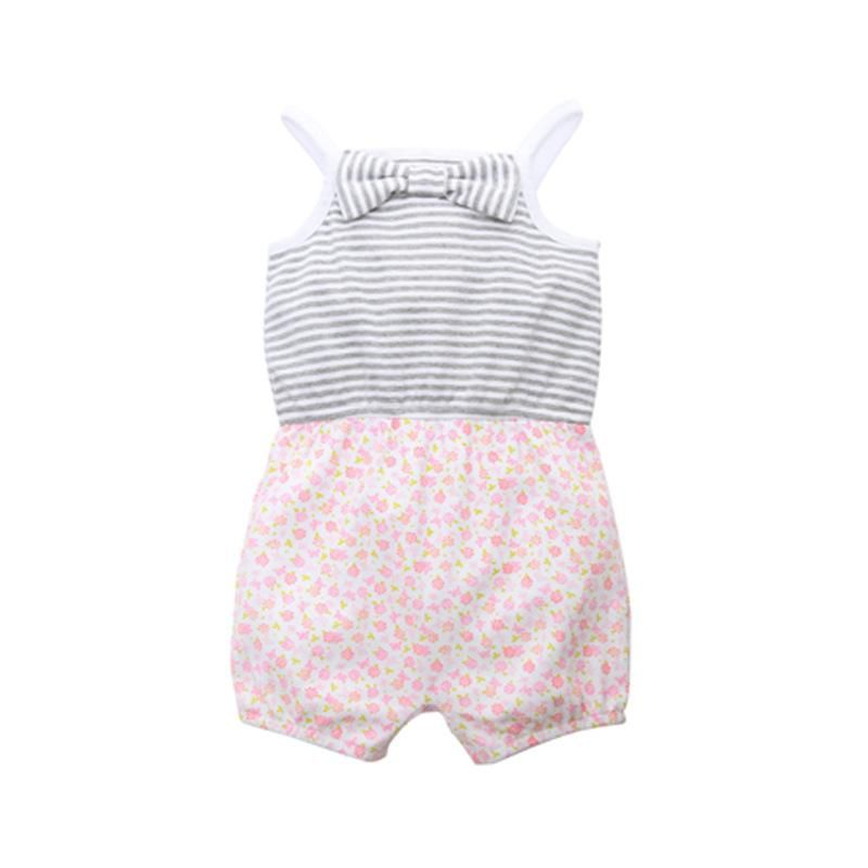 0f10567c25ca 3-Style Striped Baby Girl Sleeveless Onesies For Summer