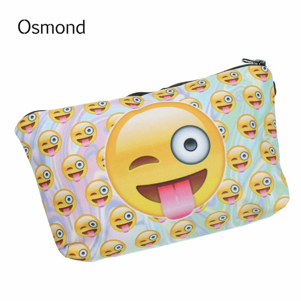 395e32b57c53 Osmond Cosmetic Bags Oxford Women Makeup Bag Cute Cartoon Smile ...