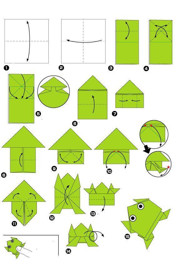 origami frosch my blog. Black Bedroom Furniture Sets. Home Design Ideas