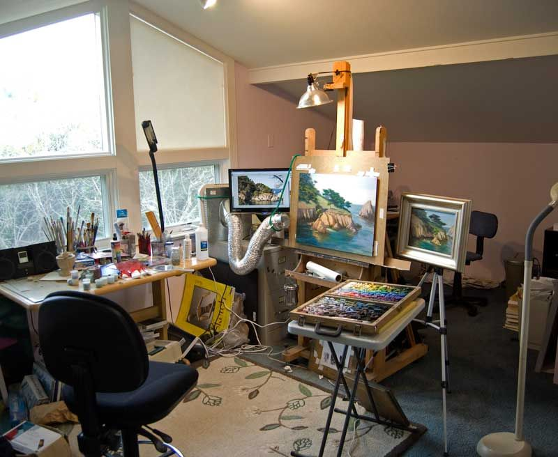 Timon Sloane Luminous Landscape Paintings Studio Painting Process