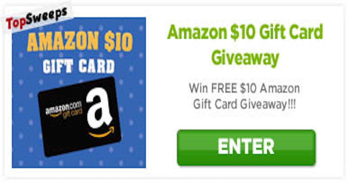 10 Amazon Gift Card Sweepstakes And More At Topsweeps Comsweepstakes And More At Topsweeps Com Amazon Gift Cards Amazon Gifts Gift Card