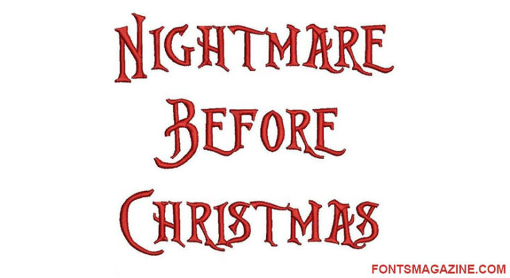 Nightmare Before Christmas Font Download (With images