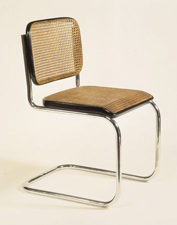 Marcel Breuer Model Cesca Chair (named In Honor Of His Daughter), Arm And  Armless Versions. First Bent Tubular Steel Chair.