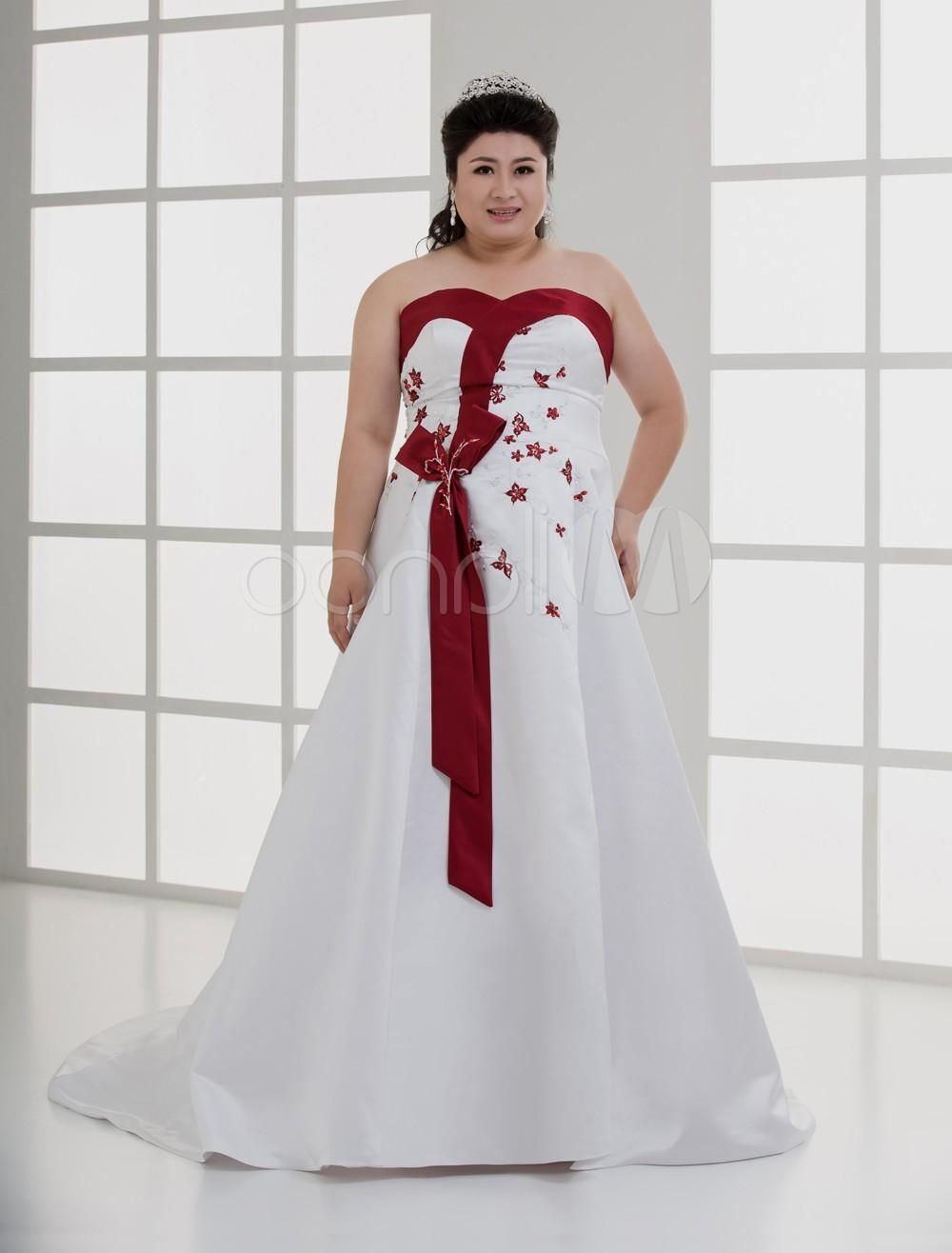18+ Plus Size Red and White Wedding Dresses   Wedding Dresses for ...