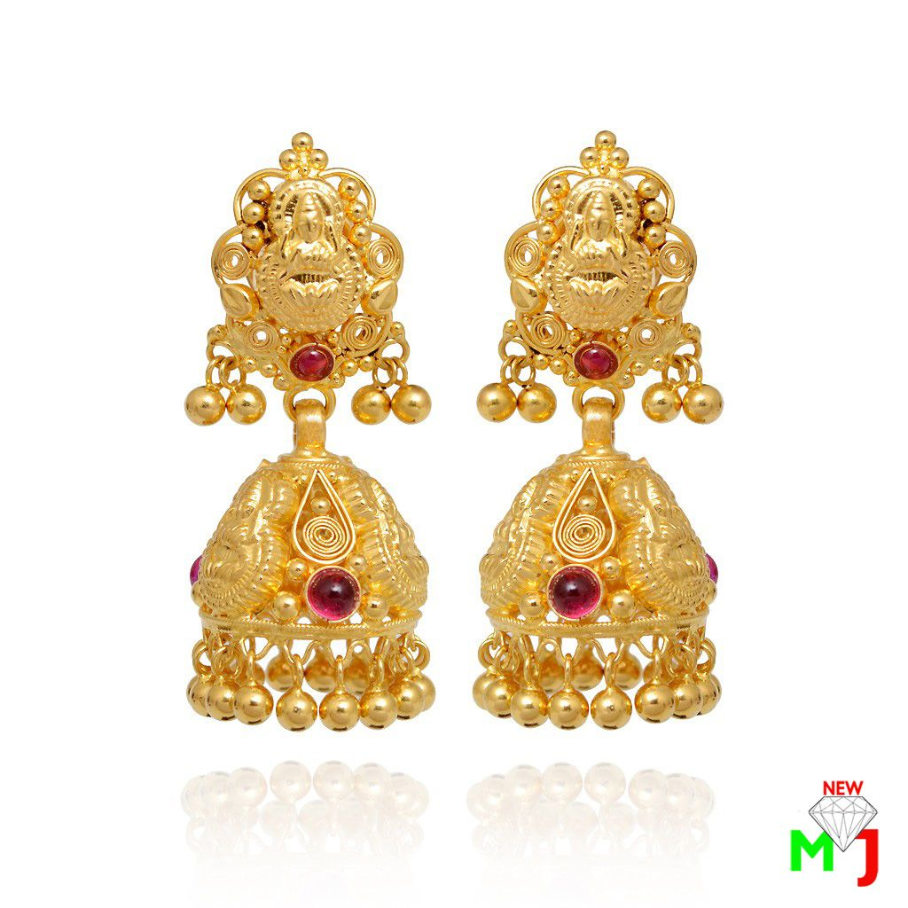 Beautiful Gold Earrings By New Maria Jewellers