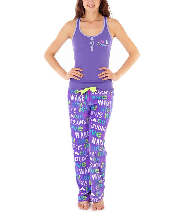 Look at this Purple 'Dream' Tank & Pajama Pants - Women & Plus on #zulily today!