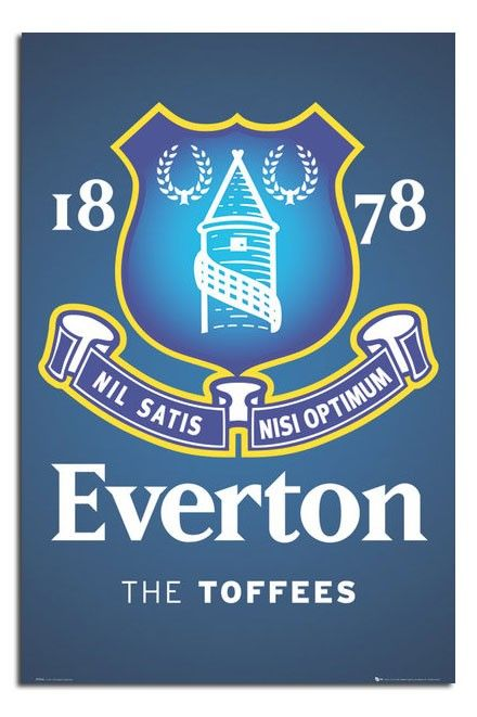 Everton Fc Club Crest Poster Everton Fc Everton