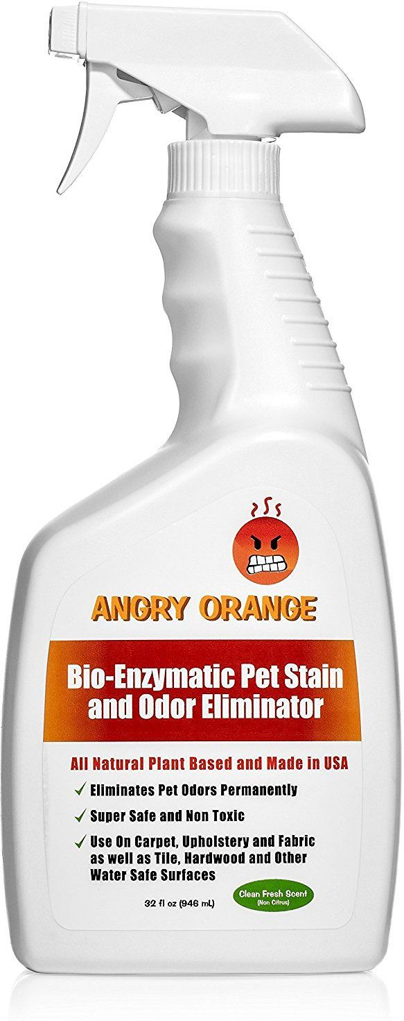 Angry Orange BioEnzyme Pet Stain & Odor Remover is a 100