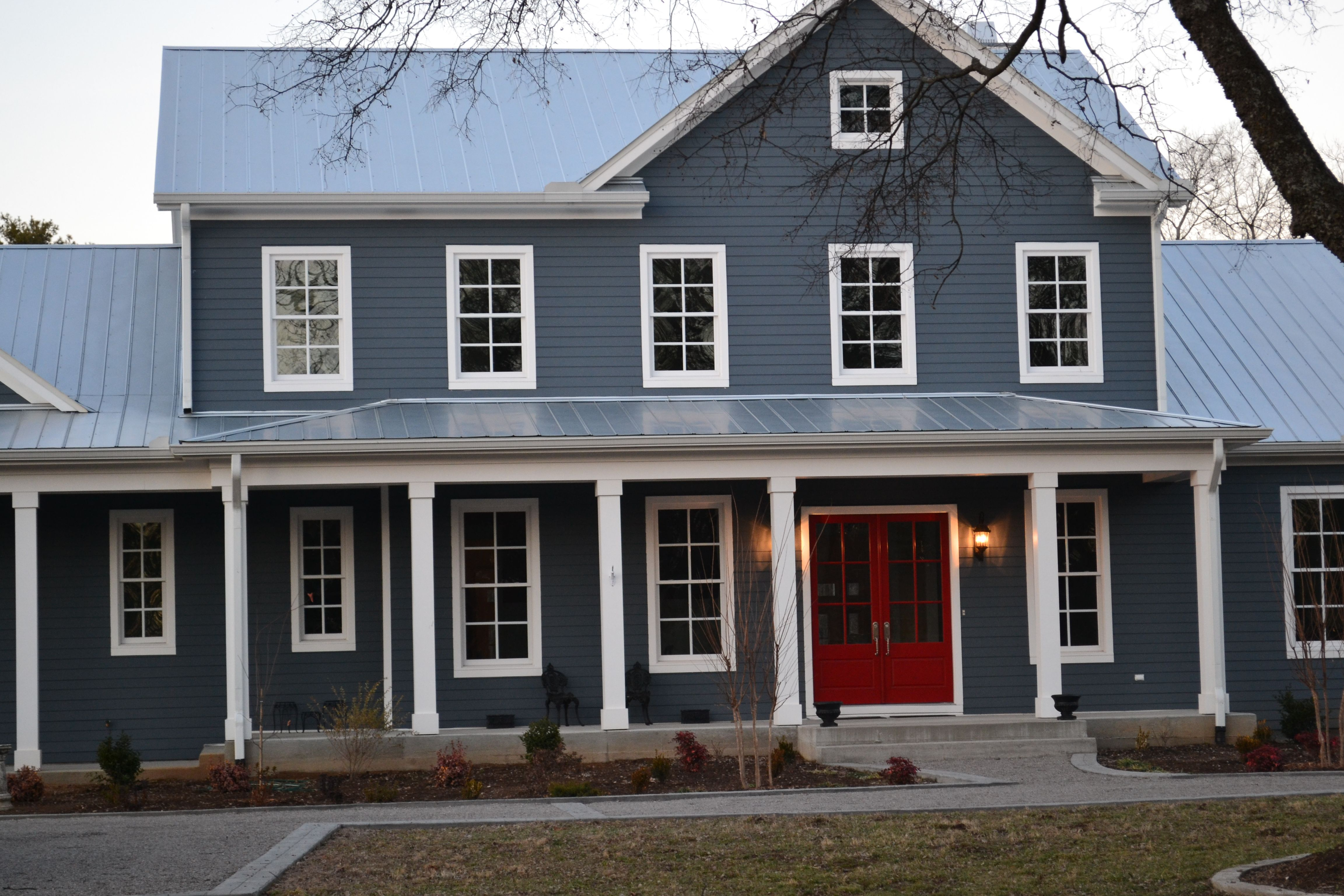 A House This Color Red Door