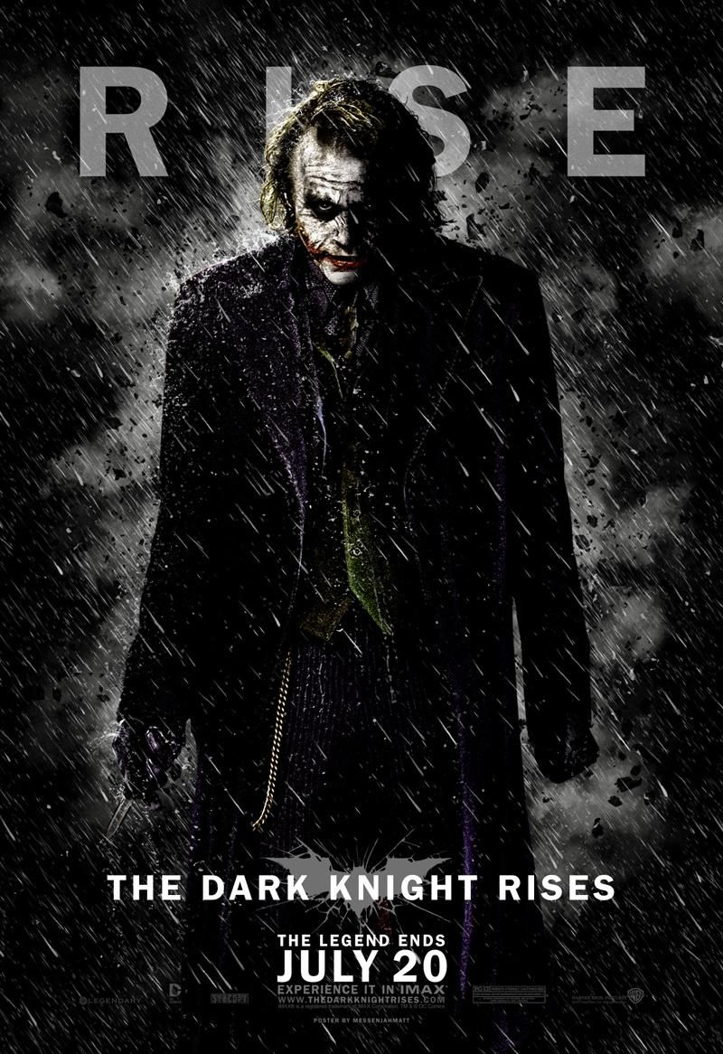 The Joker The Dark Knight Rises Character Poster The Dark Knight