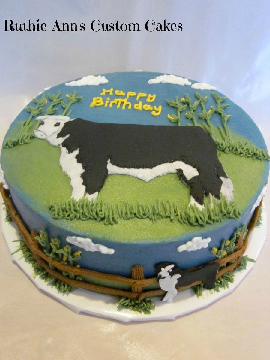 Cattle Farmer Cake Cakes Cow Birthday Cake Cake