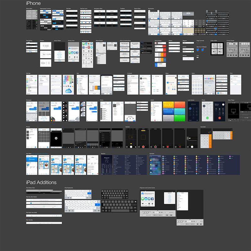 速報:iOS 8を完全再現したIllustrator用無料ベクターUIコンポーネント ...