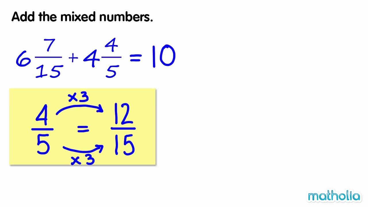 Addition Of Mixed Numbers 2 Singapore Math Math Mixed Numbers What is addition of mixed numbers