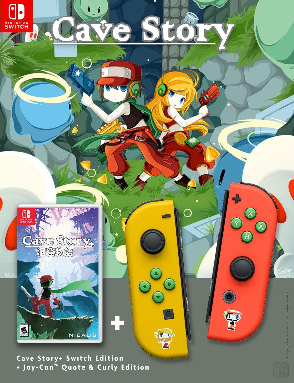 JoyCon collector Cave Story + game, Nintendo JoyCon