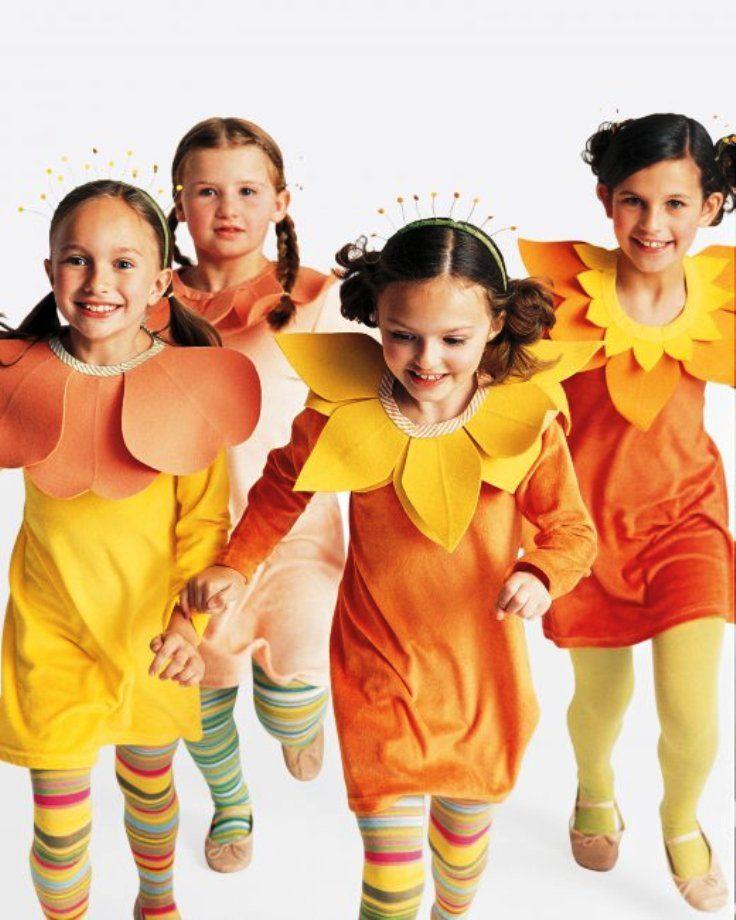 Family Costumes Flower Bouquet  Top 10 DIY Kids Halloween - halloween costume ideas easy
